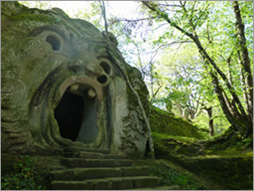 One of Bomarzo's monster sculptures