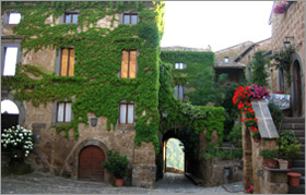 A view of one of the old buildings in Bagnoregio