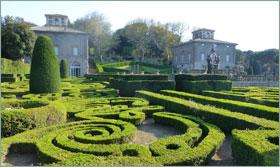 The formal gardens of Villa Lante