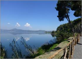 A view of Lake Bracciano