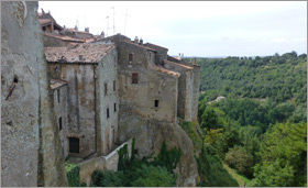 The old buildings of Pitigliano