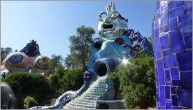 Sculptures at the Tarot Garden